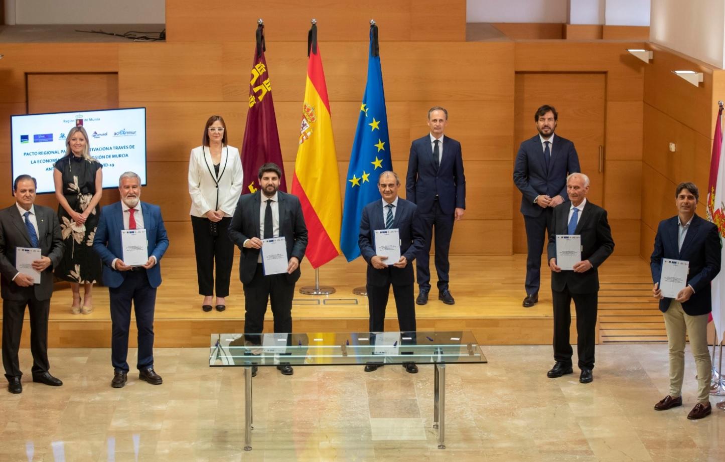 Firma del Pacto Regional para la Reactivación Económica y Social de la Región de Murcia